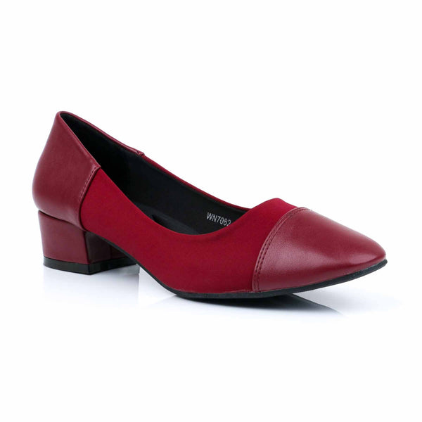 Buy Maroon Color Winter Court Shoes WN7082 at Shapago
