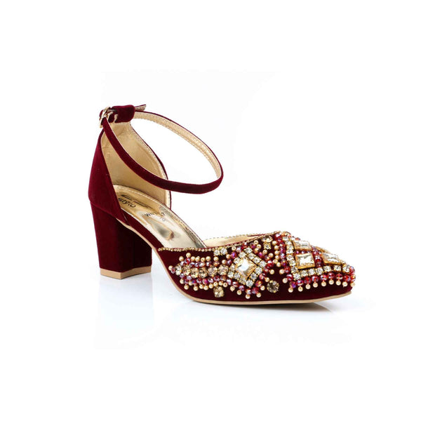 Buy Maroon Color Winter Court Shoes WN7117 at Shapago