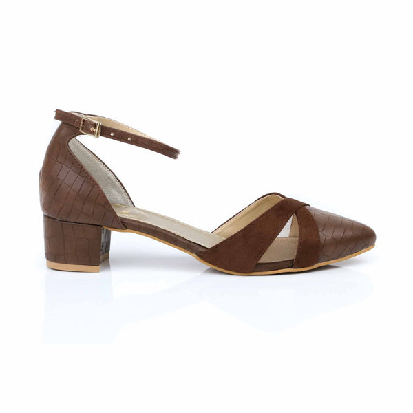 Stylo-Coffee Color Winter Court Shoes WN7137