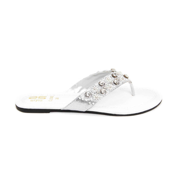 Stylo-Silver Color Casual Chappal CL0382