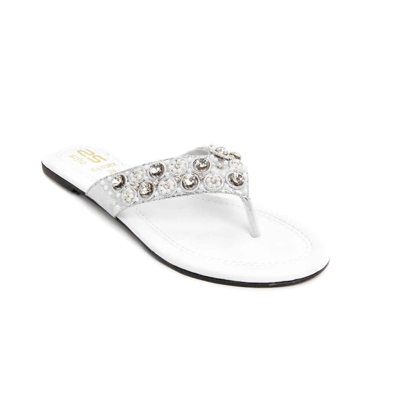Buy Silver Color Casual Chappal CL0382 at Shapago