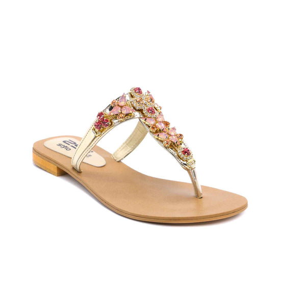 Buy Golden Color Fancy Chappal FN0209 at Shapago