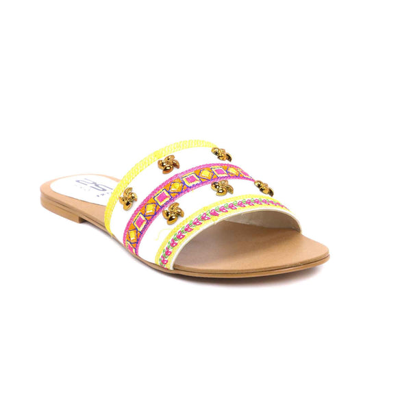 Buy White Color Formal Slipper FR7223 at Shapago