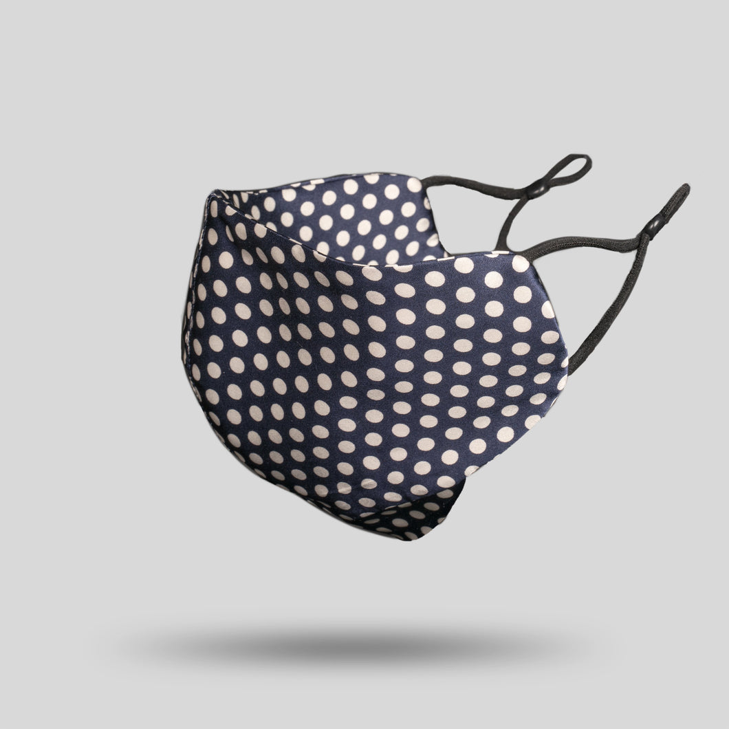 Mulberry Silk Face Mask - Polka Dot - 22Silk