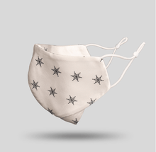 Load image into Gallery viewer, Mulberry Silk Face Mask - White Star - 22Silk