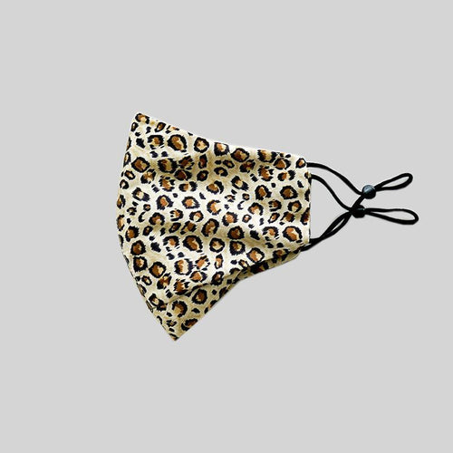 Mulberry Silk Face Mask - Leopard - 22Silk