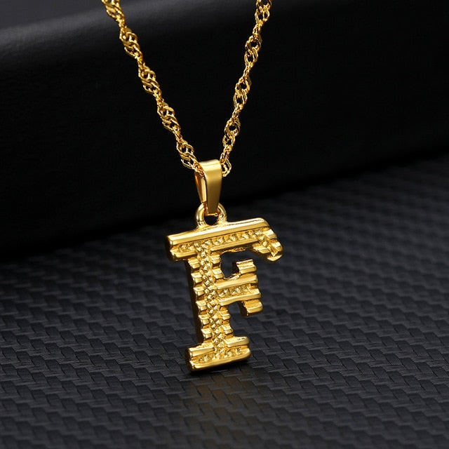 Gold Initial Letter Pendant