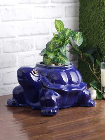 Glazed ceramic animal planters