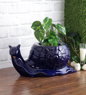 Ceramic snail shape planter