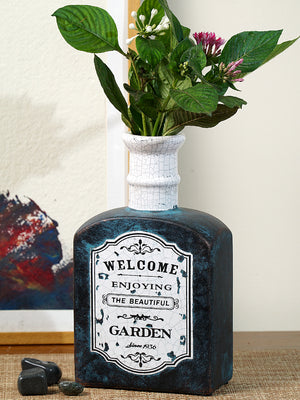 Welcome enjoying beautiful garden tall neck vase