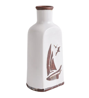 Boat medium tall ceramic vase