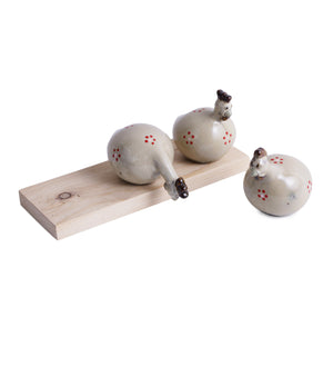 Cute hen set of three decor