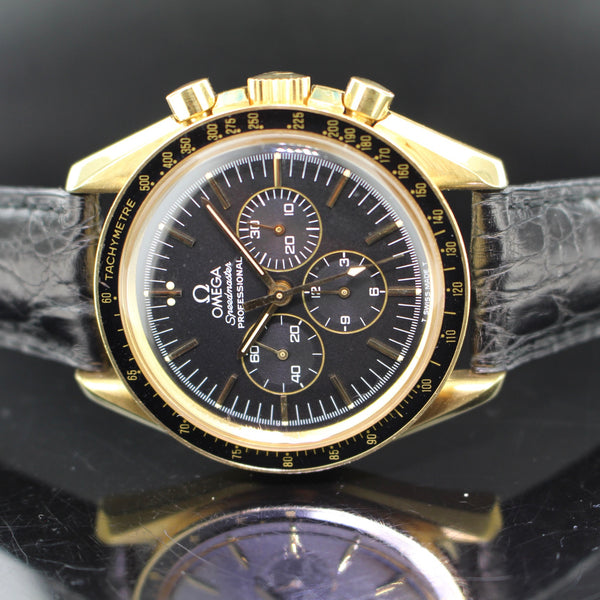 Omega Speedmaster Professional Moonwatch ref.3691.50.81 yellow gold