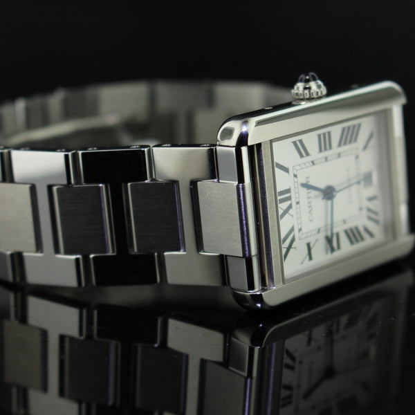 Cartier tank solo extra large ref.W5200028 acciaio