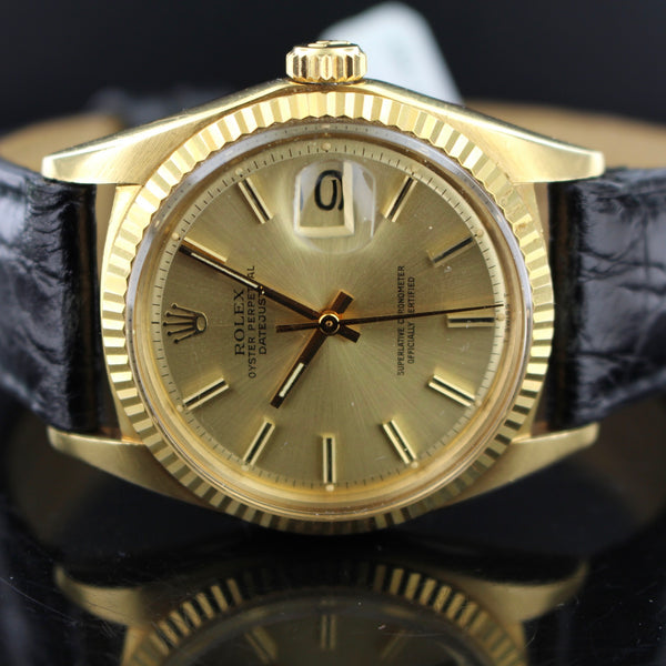 Rolex date just ref.1601 oro giallo
