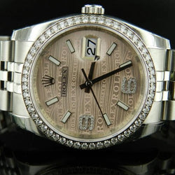Rolex Date Just ref.116244 ghiera brillanti