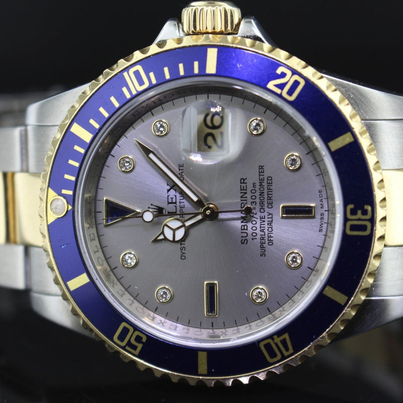 Rolex Submariner ref. 16613 serti diamond dial