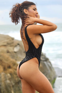 Black Vella One Piece (Reversible)
