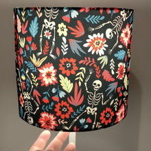 Load and play video in Gallery viewer, Floral Skeleton Design Small Lampshade