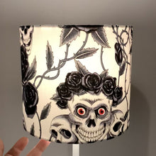 Load and play video in Gallery viewer, Red Eye Skull Design Small Lampshade
