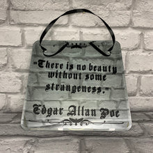 Load image into Gallery viewer, 'No beauty without some strangeness' Edgar Allan Poe Quote Decorative Gothic Wall Mirror