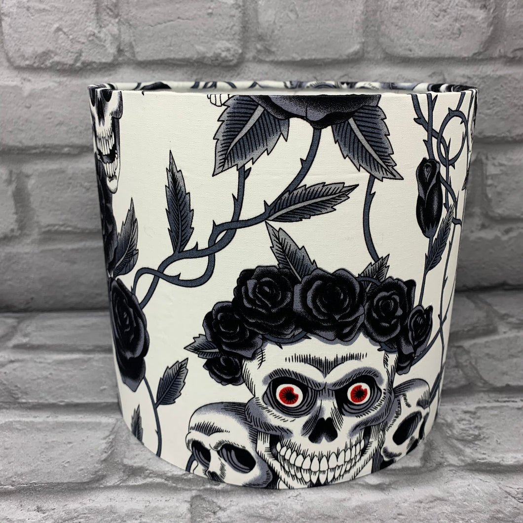 Red Eye Skull Design Small Lampshade