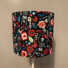 Load image into Gallery viewer, Floral Skeleton Design Small Lampshade