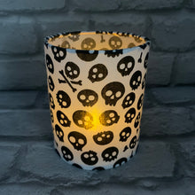 Load image into Gallery viewer, White Skull Tea light Lantern