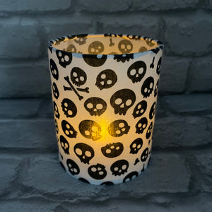 White Skull Tea light Lantern