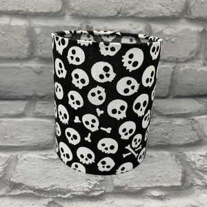 Mini Black Skull Tea light Lantern