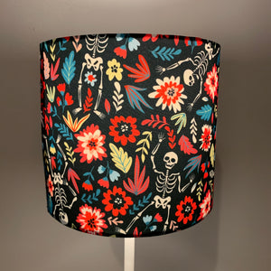 Floral Skeleton Design Small Lampshade