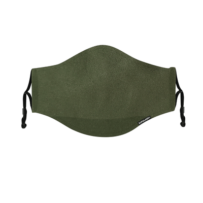 supalabs defend reusable face mask army green