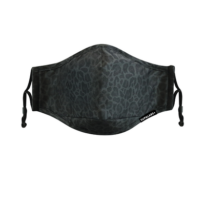 supalabs defend reusable face mask black leopard