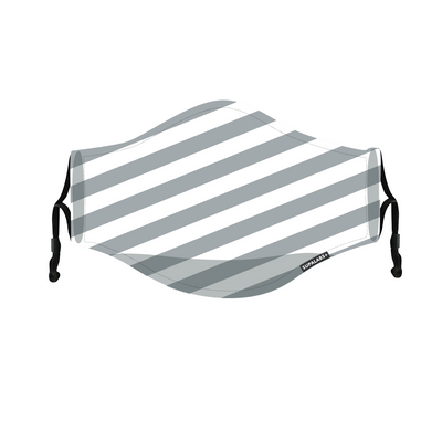 supalabs defend reusable face mask charcoal and white stripe