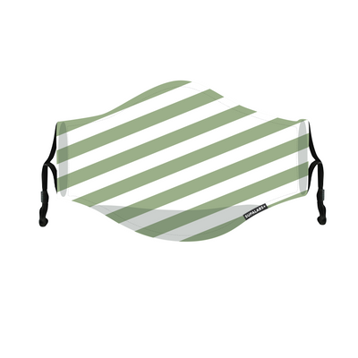 supalabs defend reusable face mask forest green stripe