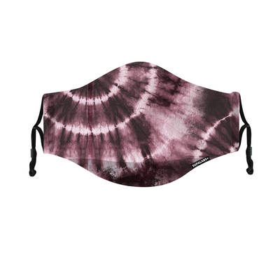 supalabs defend reusable face mask reddish tie dye