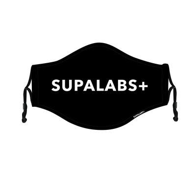 supa defend reusable face mask black