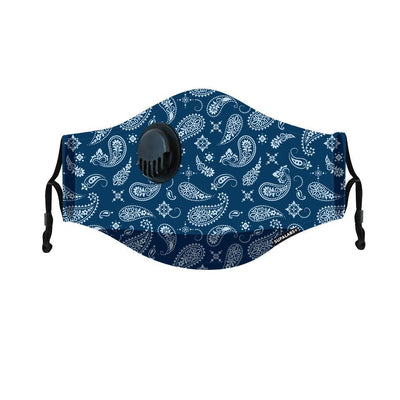 supalabs hero reusable face mask blue paisley
