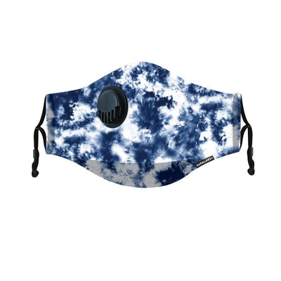 supalabs hero reusable face mask blue tie dye