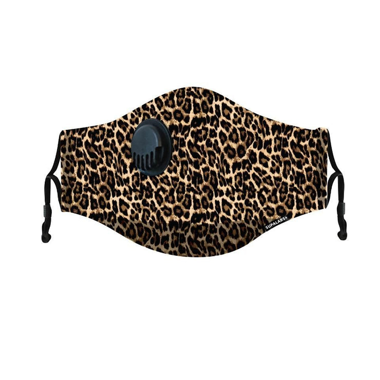 supalabs hero reusable face mask leopard