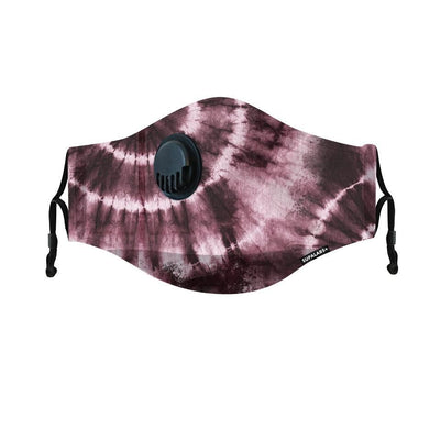 supalabs hero reusable face mask reddish tie dye