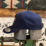 Cow Lot Cap | Blue with White Embroidery