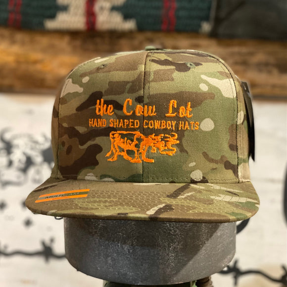 Cow Lot Cap | Camo with Orange Embroidery