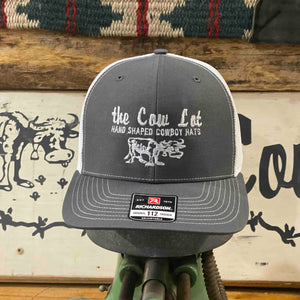 Cow Lot Logo Cap | Gray Front, White Mesh Back, Embroidered Logo