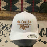 Cow Lot Logo Cap | Solid White with Rust Embroidered  Logo
