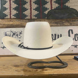 "Rodeo King Solid White 2x2 Woven Shantung 4 1/2"" Brim"
