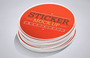 "Circle 4""x4"" Decals (100 units +Price Breaks Available)"