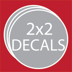 "Circle 2""x2"" Decals (100 units + Price Breaks Available)"