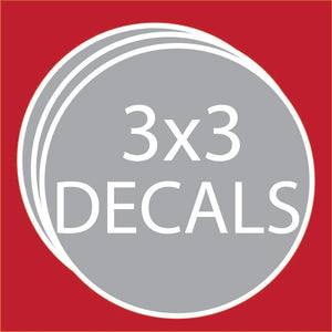 "Circle 3""x3"" Decals (100 units +Price Breaks Available)"