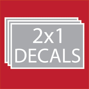 "Rectangle 2""x1"" Decals (100 units +Price Breaks Available)"